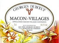 Georges Duboeuf Macon-Villages Flower Label